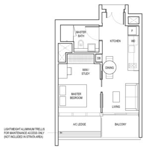 amber-park-1-bedroom-+-ensuite-study-a2-singapore