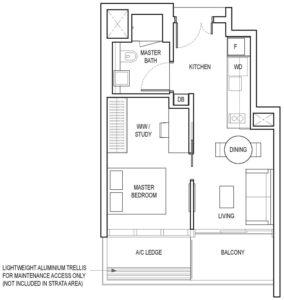 amber-park-1-bedroom-+-ensuite-study-a3-singapore