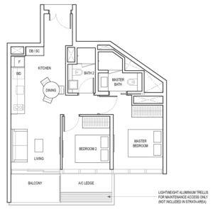 amber-park-2-bedroom-b1-singapore